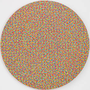 """39 Colors"", 2010, acrylic on canvas, 48"" Diameter"